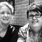 Cathie and Kim.BW